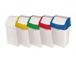 flip top waste bins