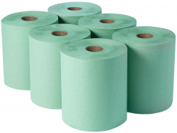 Green Dairy Wiper Rolls Adapt Paper