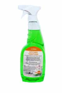 kitchen sanitiser spray