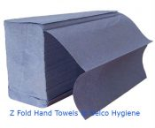 xpress interfold zig zag hand towels 1 ply blue