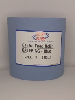 Centrefeed Wiper Roll 2ply Blue