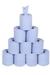 centrefeed rolls 10 blue