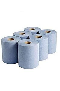 centrefeed rolls blue with dispenser