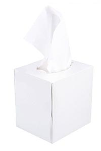 Facial Tissues Cube Box White