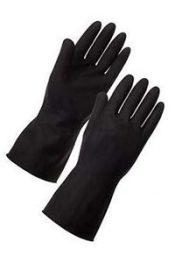 Heavy Duty Black Rubber Gloves