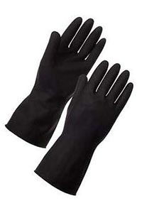 Heavy Duty Black Rubber Gloves