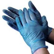 Blue Vinyl Gloves Selco